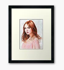 Amy Pond - Karen Gillan from Doctor Who saga Framed Print
