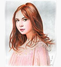 Amy Pond - Karen Gillan from Doctor Who saga Poster