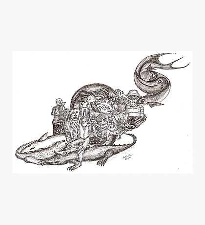Sketch Inspired by Piranesi Photographic Print