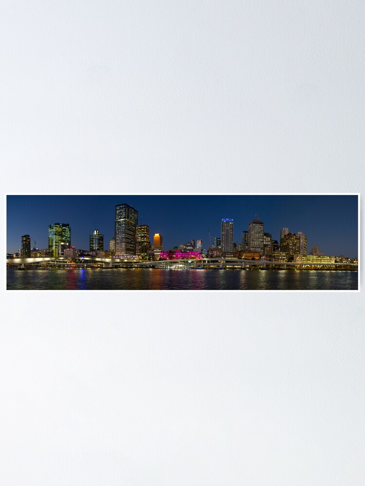 Alternate view of Purple Brisbane Poster