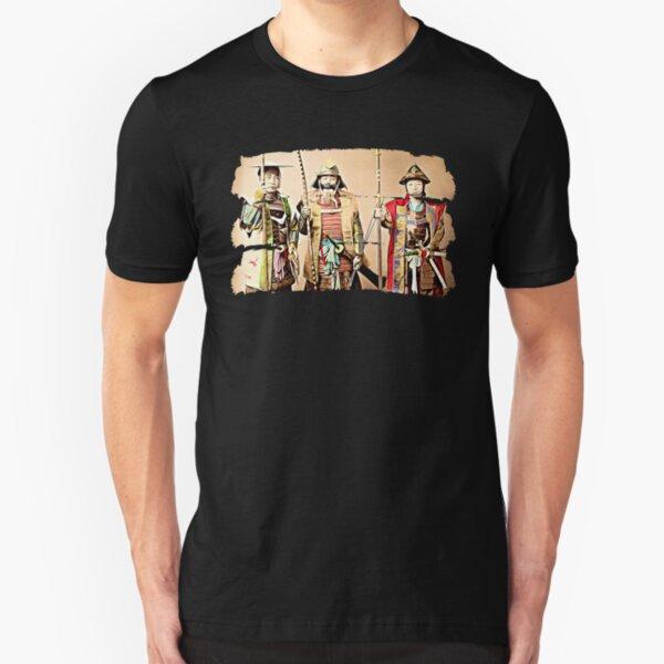 3 Samurai (dark) Slim Fit T-Shirt