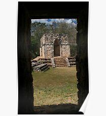 Mayan City of Ek' Balam Building Poster