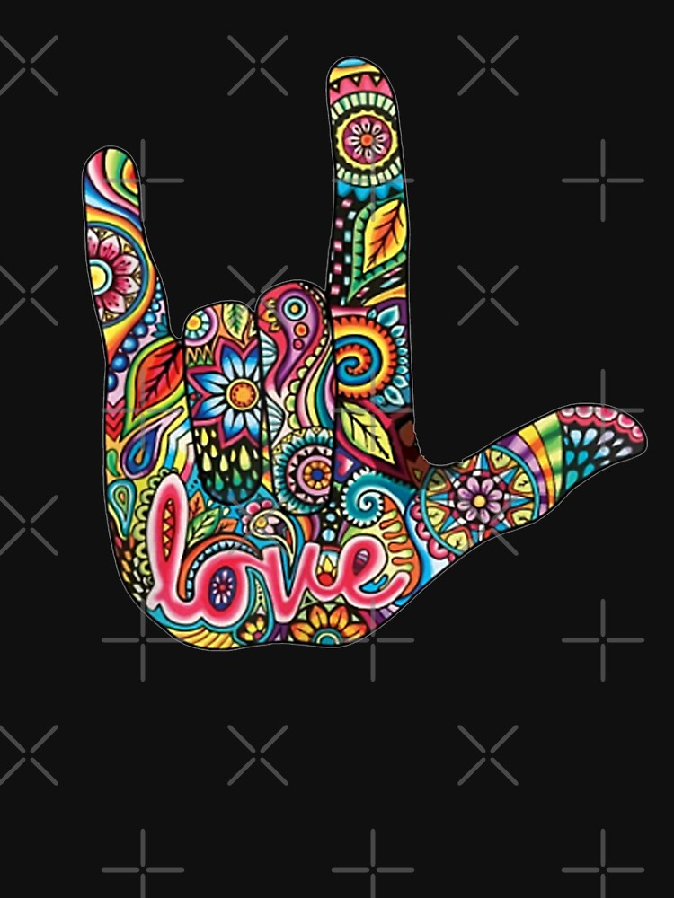 I Love You American Sign Language Gift for Women Men by ArijsGailis