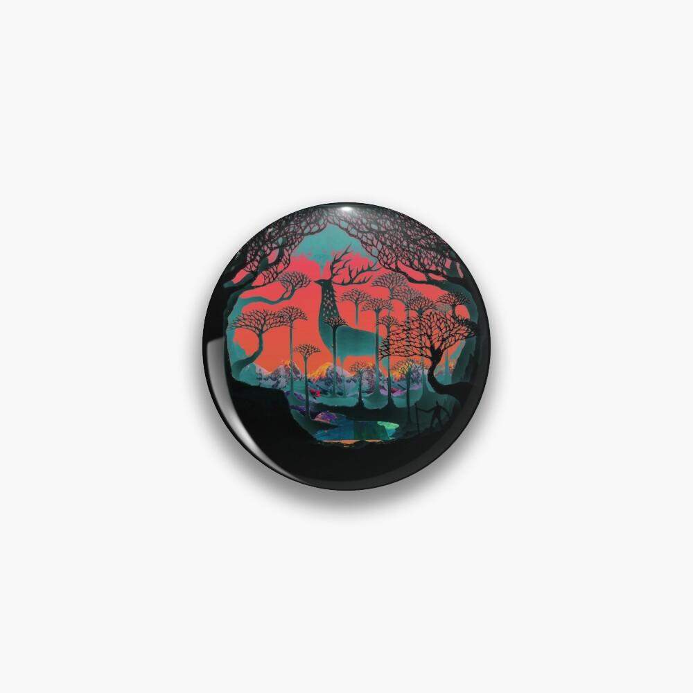 Forest Spirit - Woodland Illustration Pin