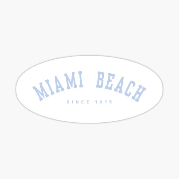 miami beach florida sticker sticker brandy  Sticker