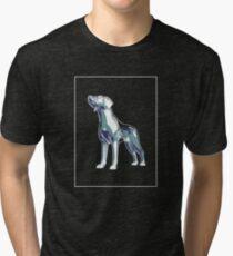 Dog Mauve Green E Tri-blend T-Shirt