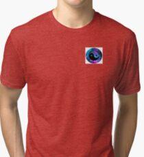 Galaxy styled ying yang sign Tri-blend T-Shirt