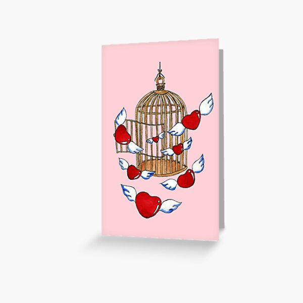 Freedom On Pink Greeting Card