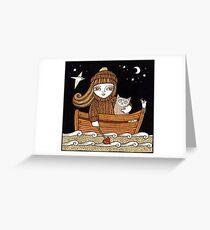 Bessies Wee Boat Greeting Card