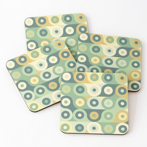 Groovy 70's Pattern Coasters (Set of 4)