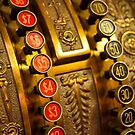Vintage Gold Cash Register by KellyHeaton