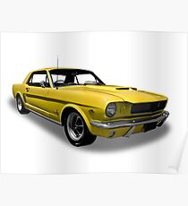 Ford - 1966 Mustang Hardtop Coupe Poster