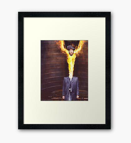 M Blackwell - He Felt Great! Framed Print