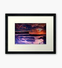 Avalon Beach Sunrise HDR Framed Print