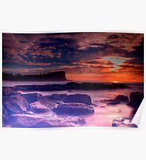 Avalon Beach Sunrise HDR Poster