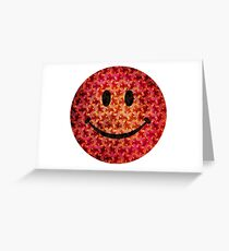 Smiley face - Escher graphic pattern Greeting Card