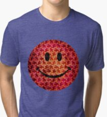Smiley face - Escher graphic pattern Tri-blend T-Shirt