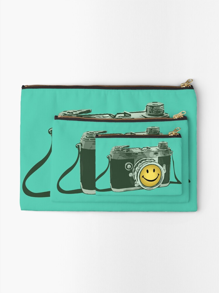 Alternate view of Smiley camera Zipper Pouch