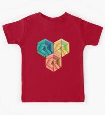 tea towel hexagon collage Kids Tee