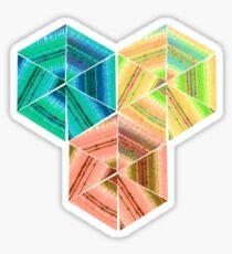 tea towel hexagon collage Sticker