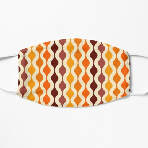 Groovy 70's pattern fall colors Flat Mask