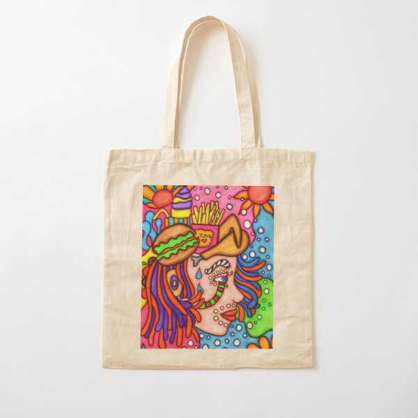 Feminist Funky Face Cotton Tote Bag