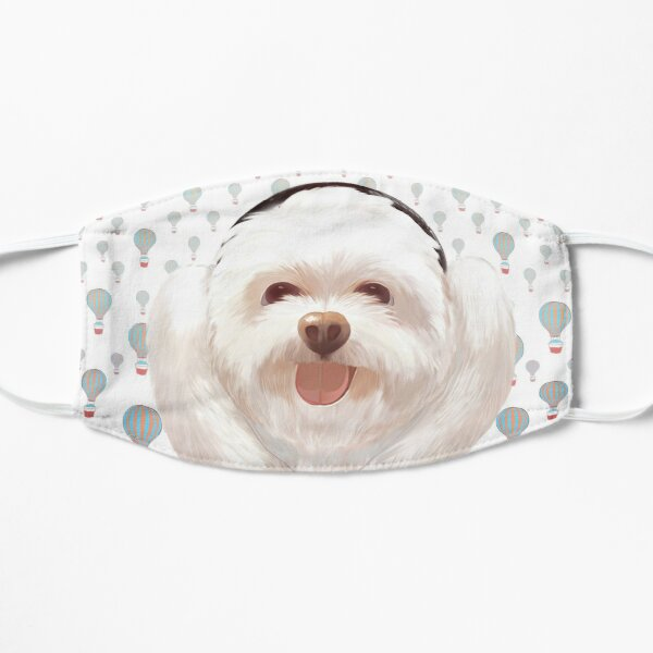Puppy listening to music with headphone Mask