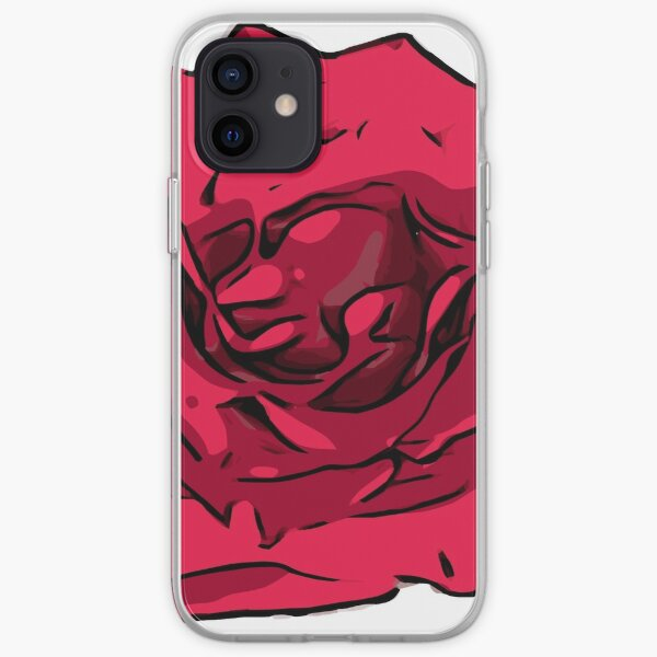 Rote Rose Illustration iPhone Flexible Hülle