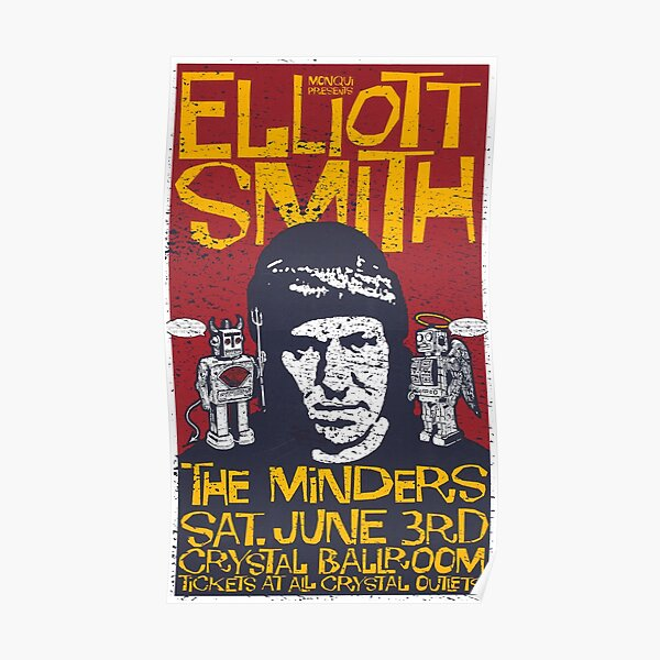 Elliott Smith Live in 2001 (distressed design) Poster