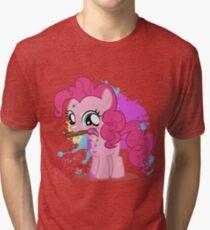 Pinkie Pie Color Splatter Tri-blend T-Shirt