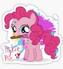 Pinkie Pie Color Splatter Sticker