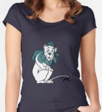 Cowardly Lion Illustration Women's Fitted Scoop T-Shirt