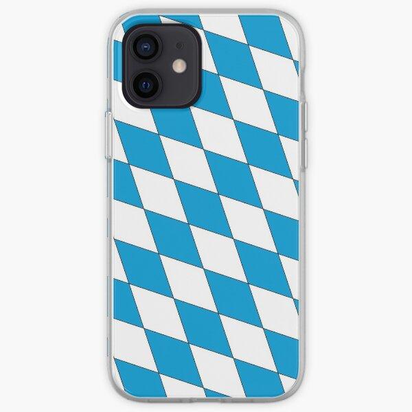 Medieval Blue White Bavaria Lozenges Pattern iPhone Soft Case
