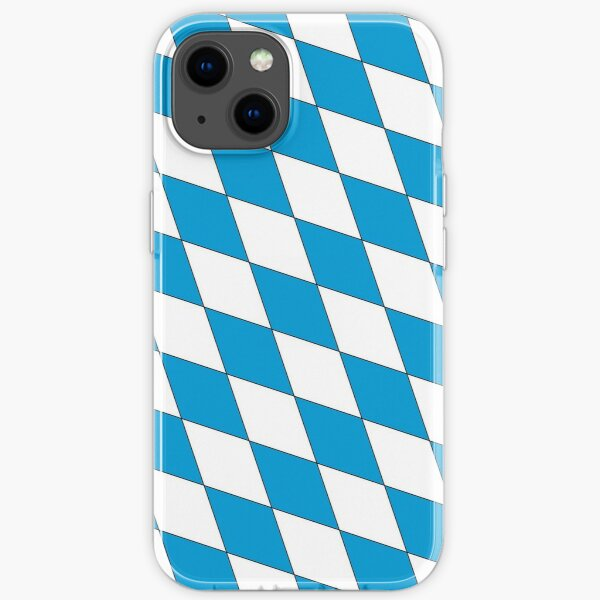 Mittelalterliches blau-weißes Bayern-Lutschtabletten-Muster iPhone Flexible Hülle