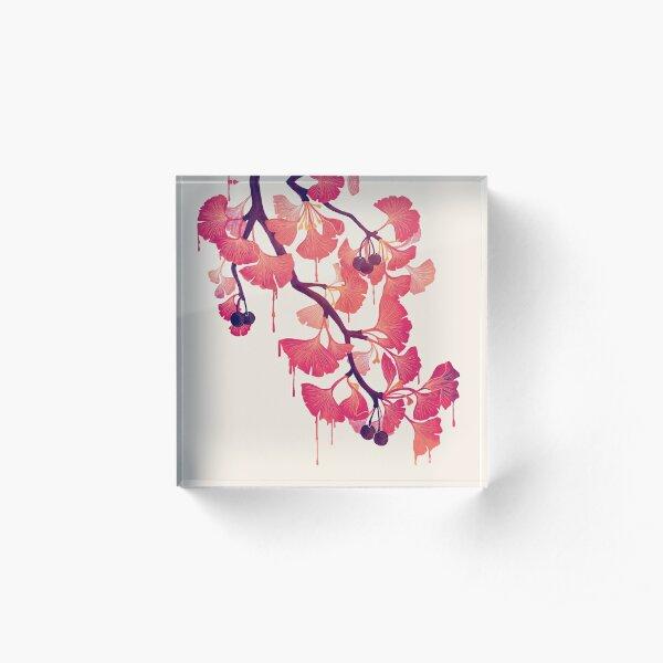 O Ginkgo Acrylic Block