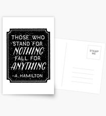 Stand or Fall Quote Postcards