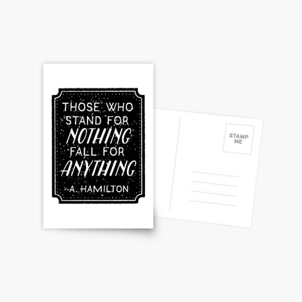 Stand or Fall Quote Postcard
