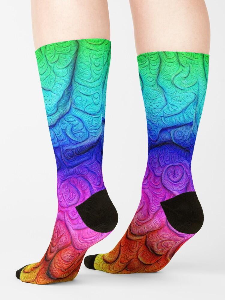 Alternate view of Color Foam levels #DeepDream Socks