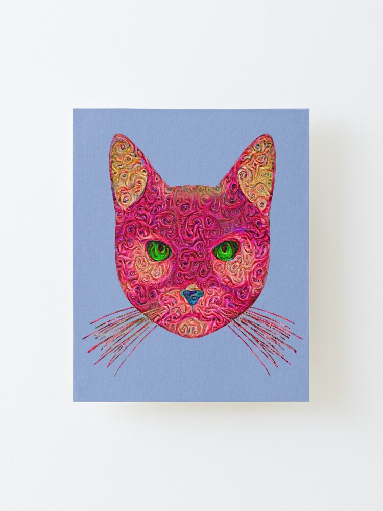 Alternate view of Rose Hungry Cat Mounted Print
