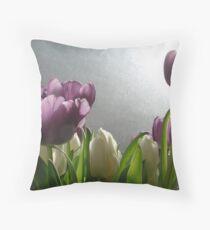 Spring Tulips Throw Pillow