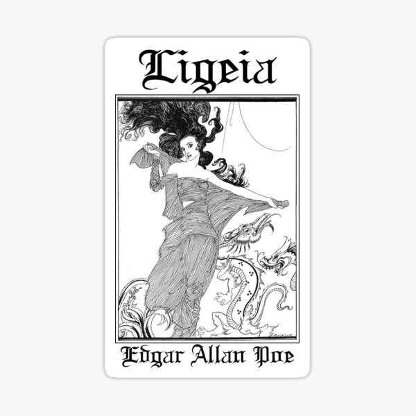 Edgar Allan Poe Ligeia nr2 Sticker
