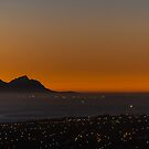 Last light over False bay by Rudi Venter