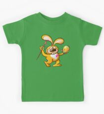 Easter Bunny Painting an Egg Kids Tee