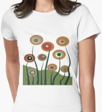 Whimsical Flowers Women's Fitted T-Shirt