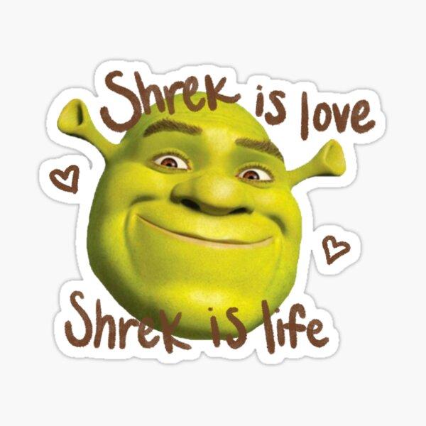 Shrek es amor Shrek es vida Pegatina