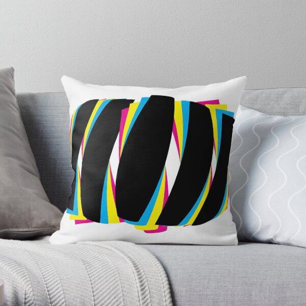 Color abstracto geométrico pop art moderno Cojín