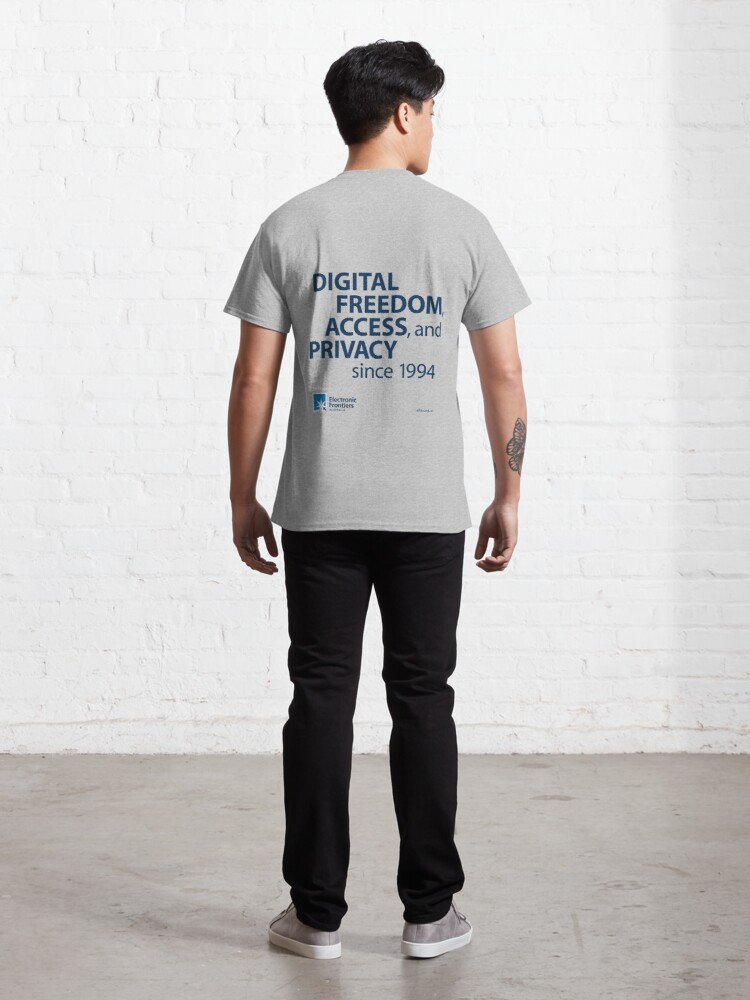 Alternate view of Electronic Frontiers Australia - Light Backgrounds Classic T-Shirt