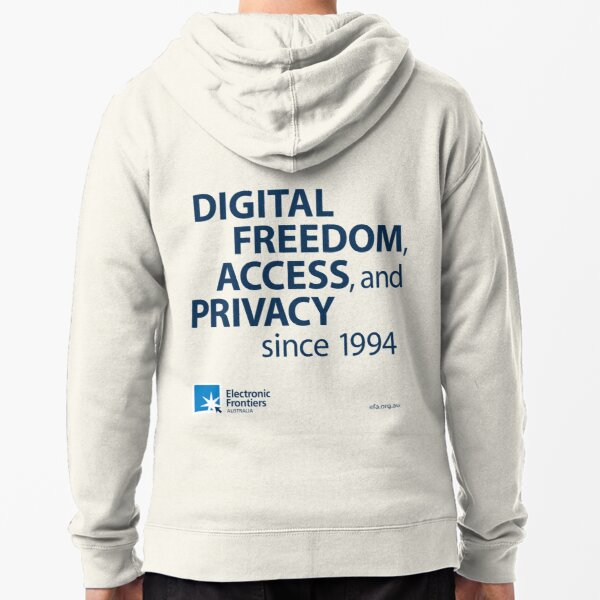 Electronic Frontiers Australia - Light Backgrounds Zipped Hoodie