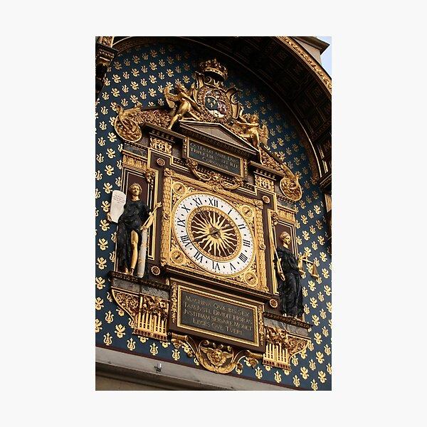 horloge de la Conciergerie, Paris (France) Impression photo