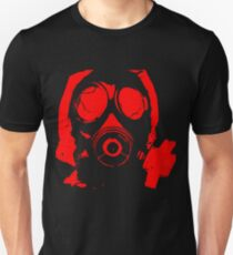 RED GAS MASK Unisex T-Shirt